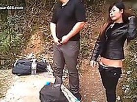 chinese mauren gets her pussy polished by a local man