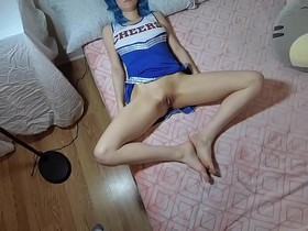 """Cheerleader daughter plays Daddy's """"secret"""" game with him. ROLEPLAY"""